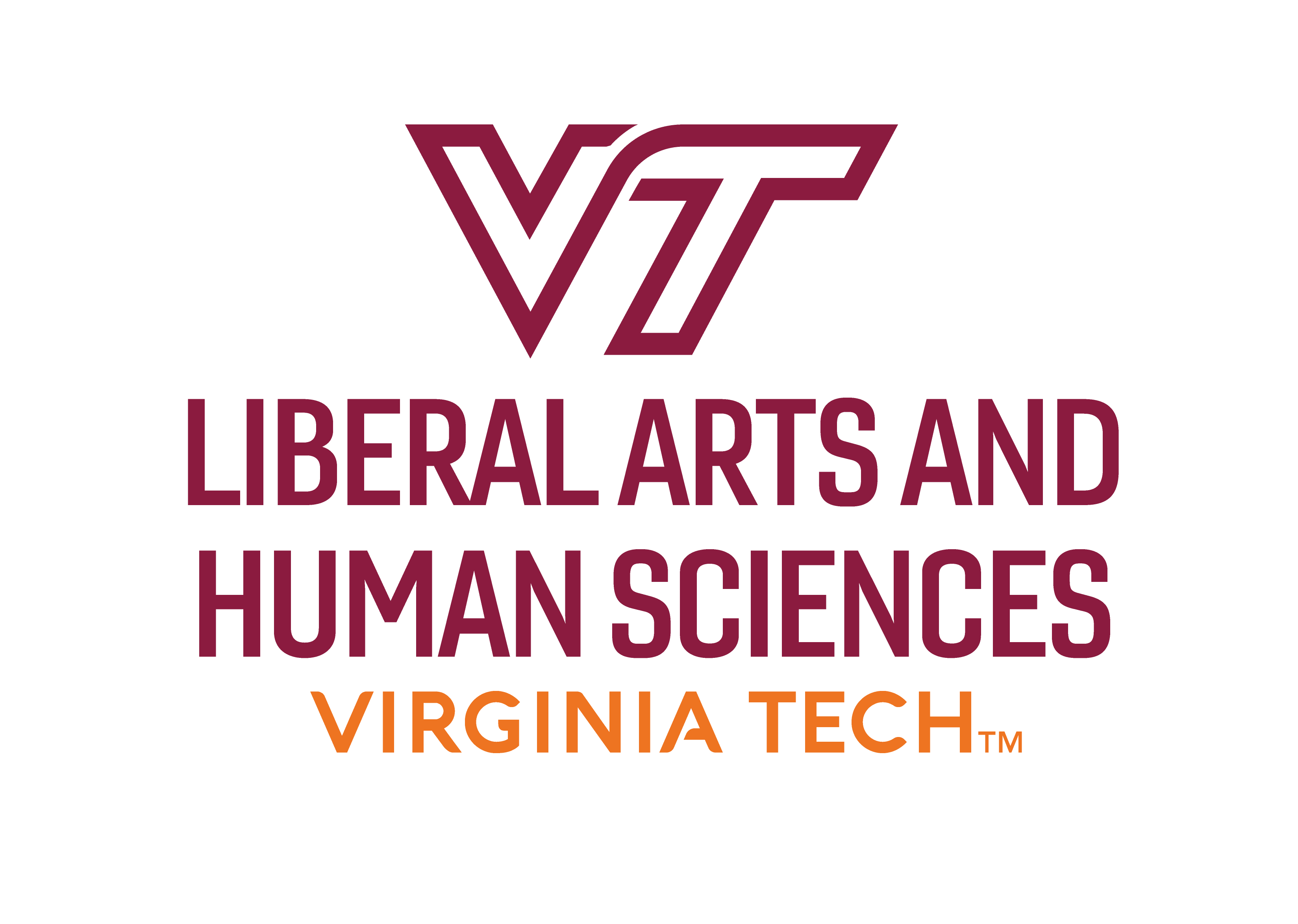 Virginia Tech College of Liberal Arts and Human Sciences logo