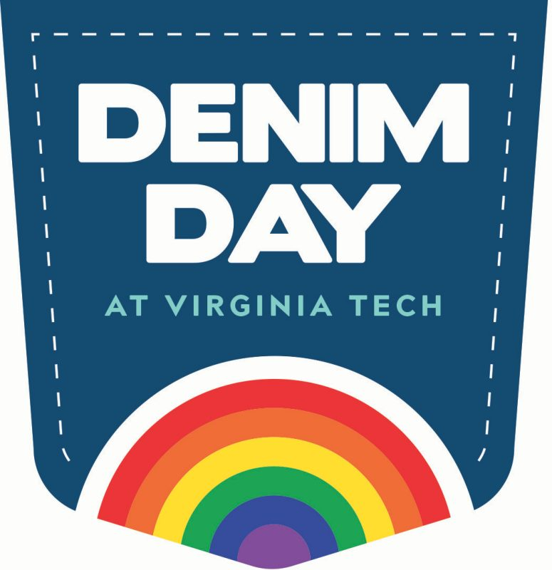 Denim Day at Virginia Tech graphic, which features a denim patch with a rainbow in it