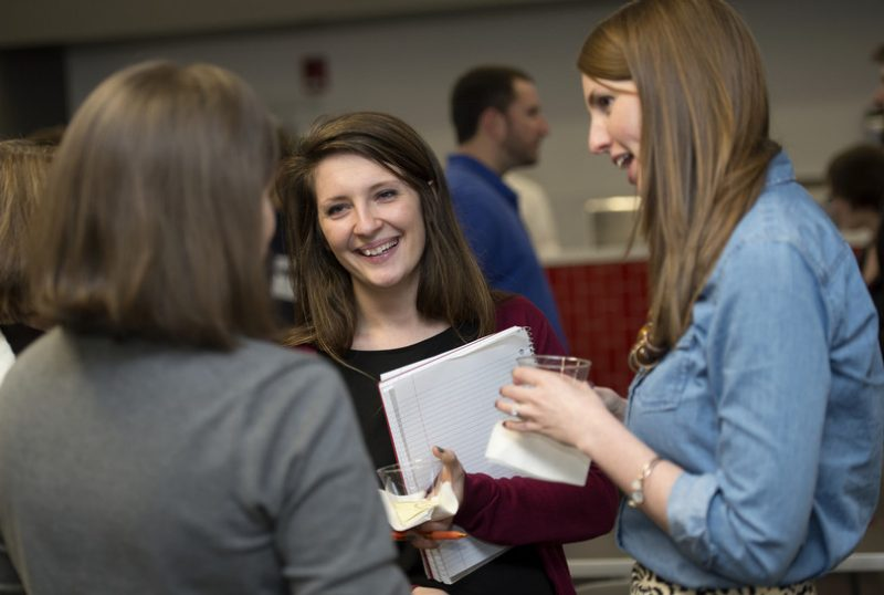 Young alumni at a career and networking event