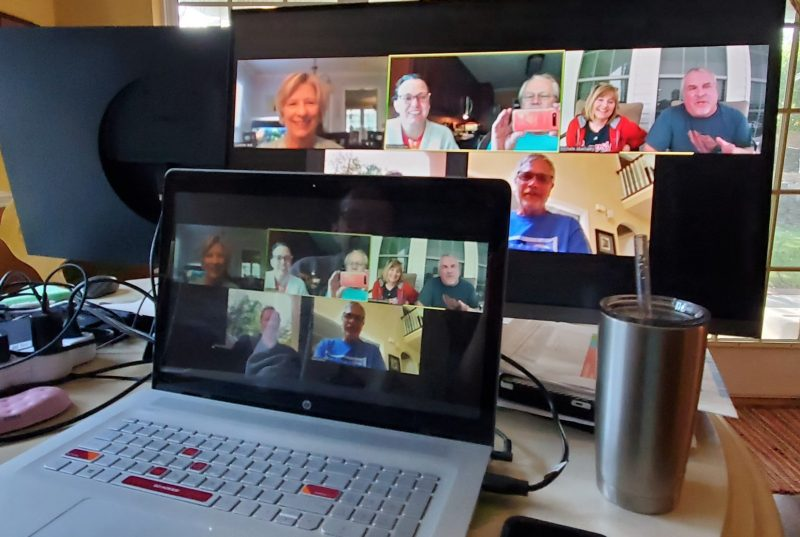 Alumni chapter hosts a remote event on Zoom