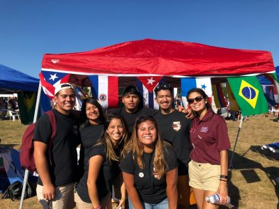 Hokies at a multicultural event