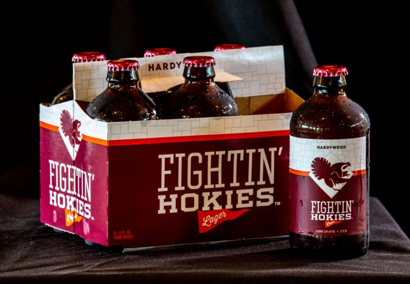 Fightin' Hokies Lager is available for purchase across the state of Virginia. Photo: Zeke Barlow, Virginia Tech